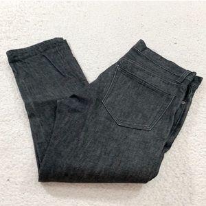 J crew men's black button fly slim jeans size 32